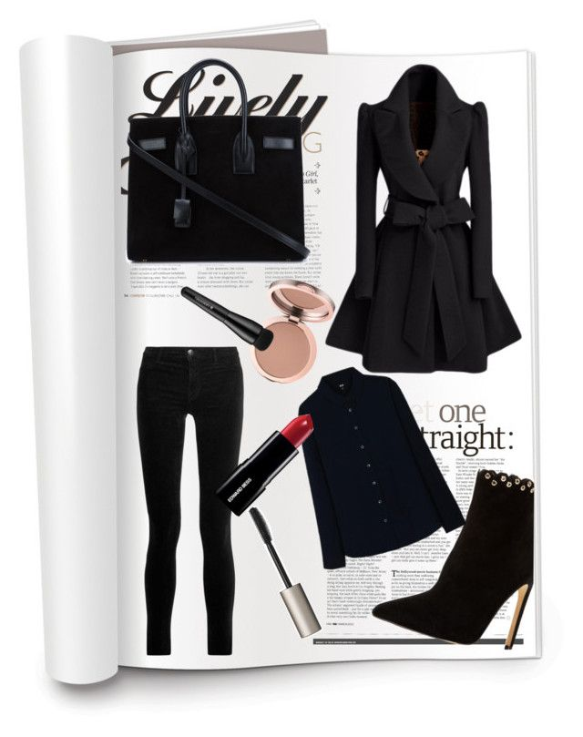 """#winter style"" by angelina-bukova ❤ liked on Polyvore featuring Raye, J Brand, Yves Saint Laurent, Ilia, Arbonne and Uniqlo"