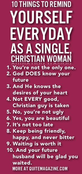 christian single women in ordinary Biblical dating: men initiate, women respond feb 15,  the hard fact is that many single christian women have fathers who are not involved in their lives at all,.