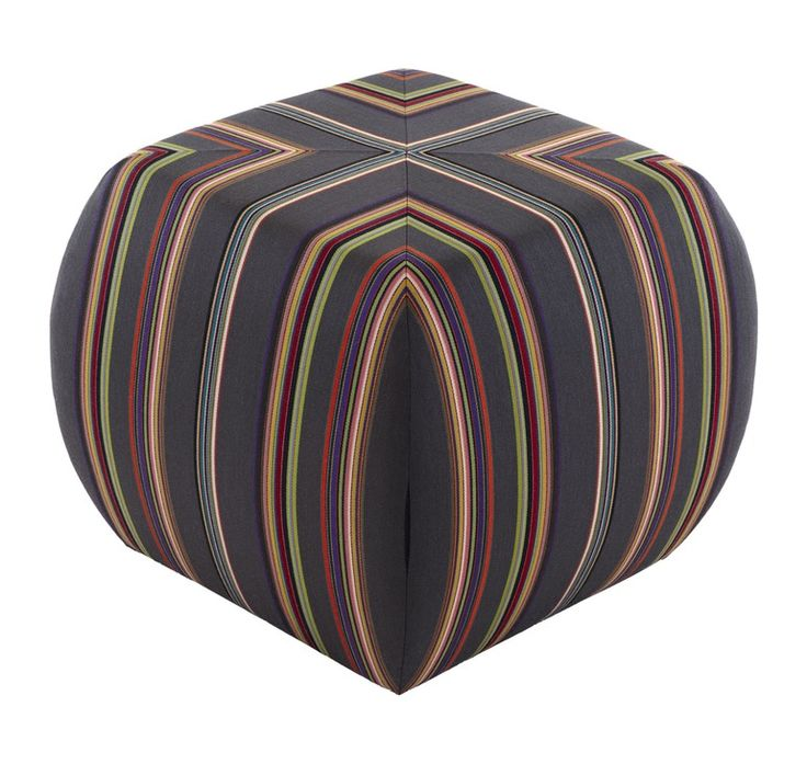 Glide Striped Ottoman  Contemporary, Upholstery  Fabric, Stools, Ottomans  Pouf by Naula