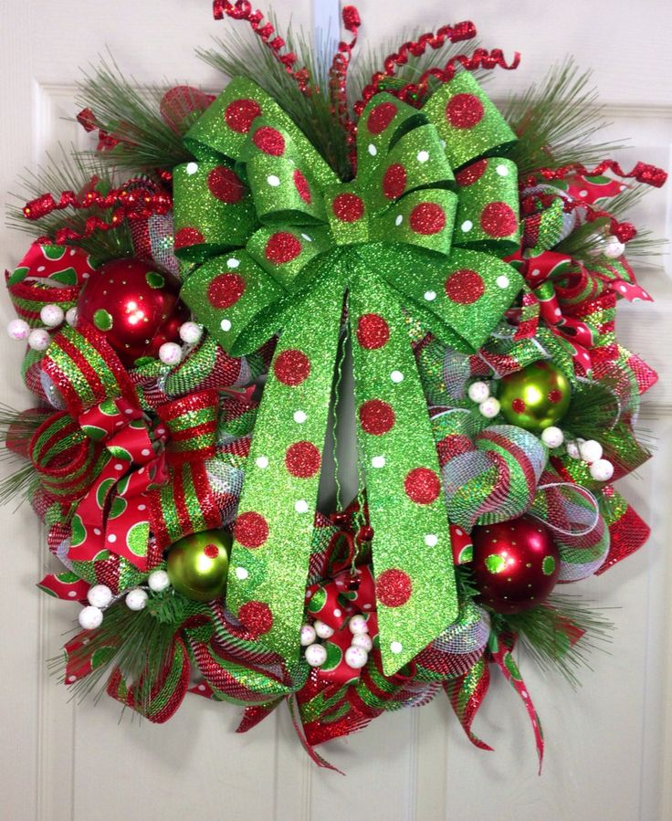 Christmas Mesh Wreath by WilliamsFloral on Etsy