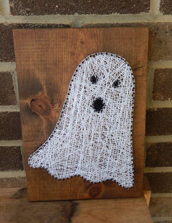 Ghost String Art By Deepwoodscrafts On Etsy Holz N 228 Gel