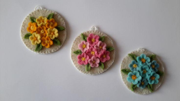 Handmade felt flower-Sümbül Eldek