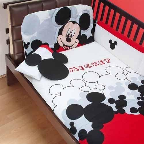 Set De Edredon Para Cuna De Bebe Mickey Mouse Disney Pijamer - $ 1,399.00