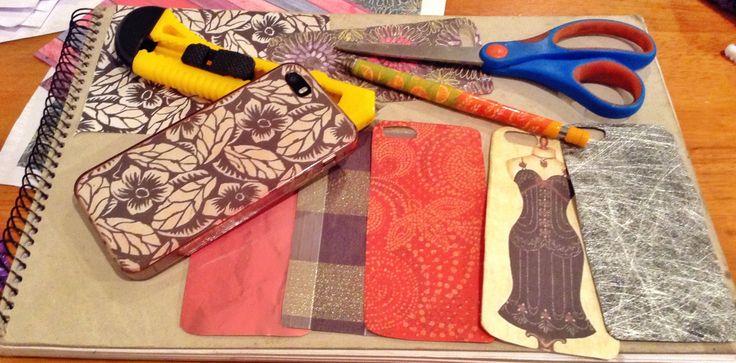 DIY iPhone case - paper craft