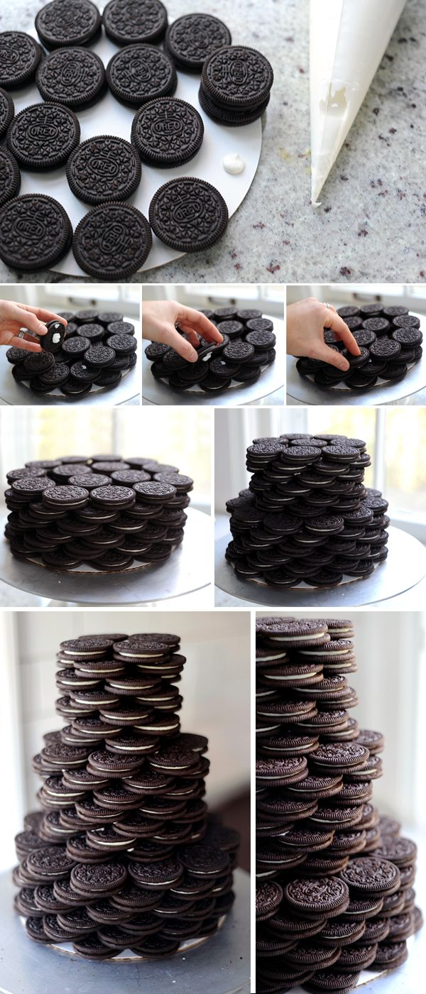 Hot Chocolate Party: Stacked Oreo Cake and Homemade Marshmallows