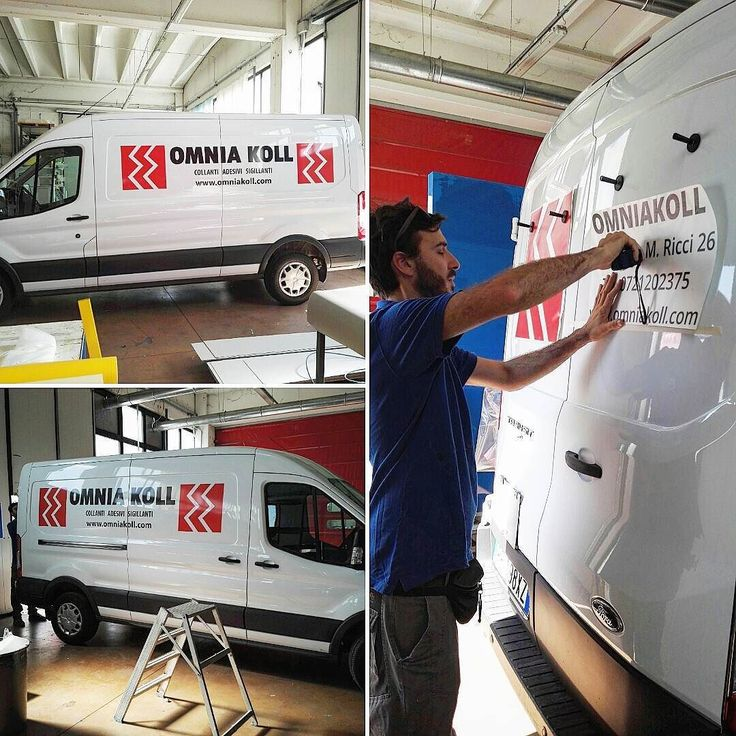 Omniakoll - Personalizzazione furgone aziendale  #personalizzazione #automezzo #furgone #vinili #adesivi #stampa #digitale #print #adigital #pesaro