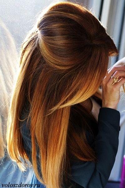 Фото омбре на волосах (с изображениями) | Прически, Балаяж ...