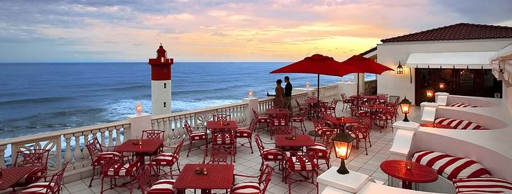 The Lighthouse Bar Terrace at The Oyster Box Hotel