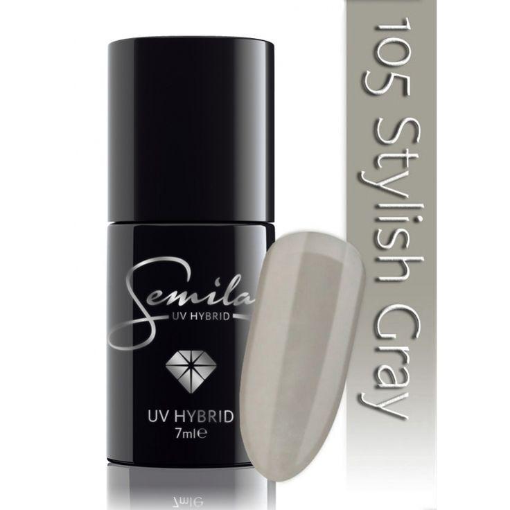 Ημιμόνιμο μανό Semilac - 105 Stylish Grey 7ml - Semilac | Προϊόντα Μανικιούρ - Πεντικιούρ Semilac & Ημιμόνιμα.