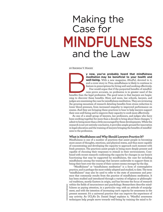 NW Lawyer - April/May 2014 - Page 18-19 | emotional intelligence ...