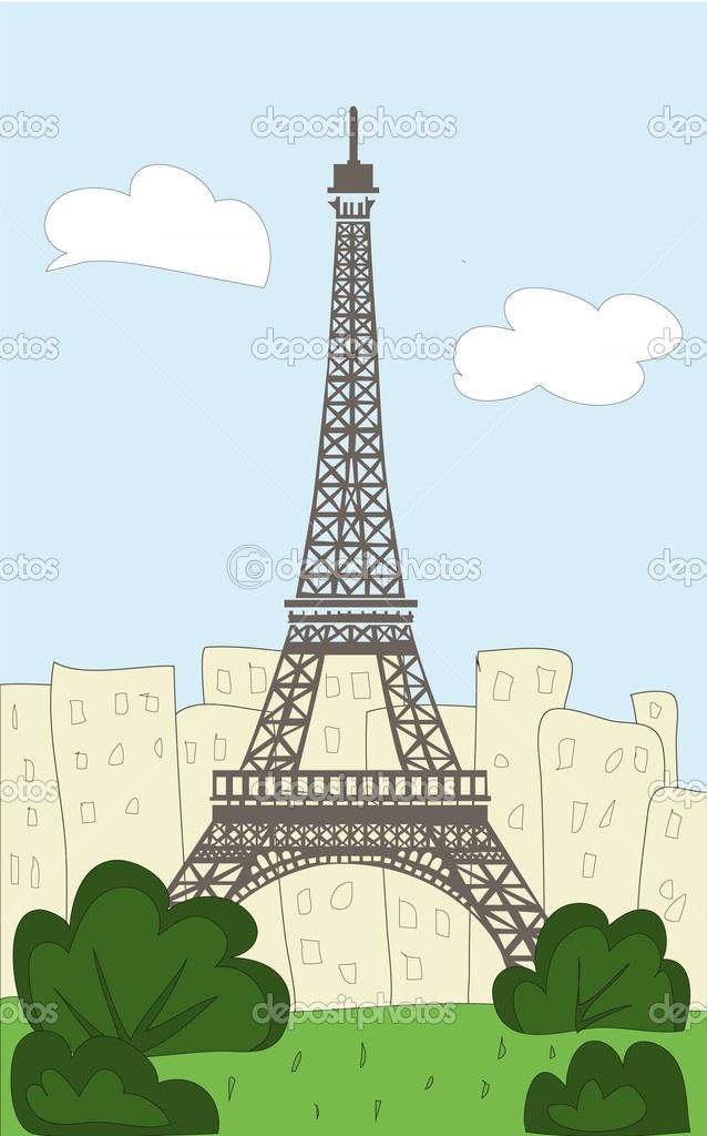 Eiffel Tower Cartoon My Home Pinterest Cartoon