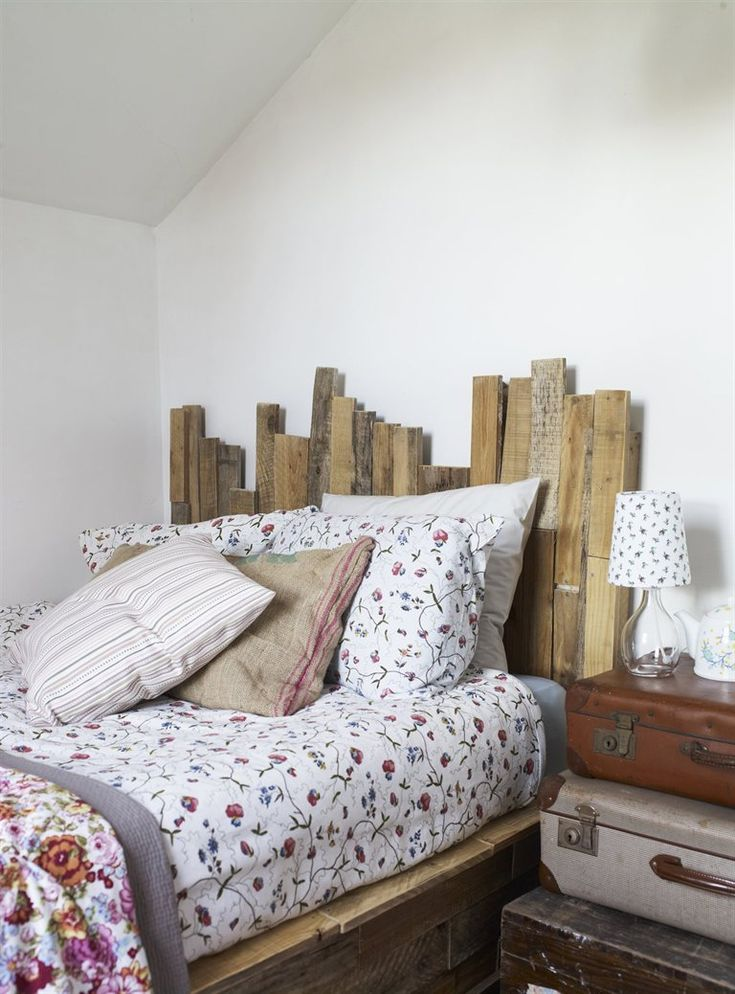 My pallet wood bed as seen in Ikea Live magazine, ut now! HestersHandmadeHome