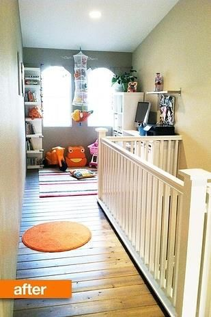 Turn dead space above a staircase into a playroom
