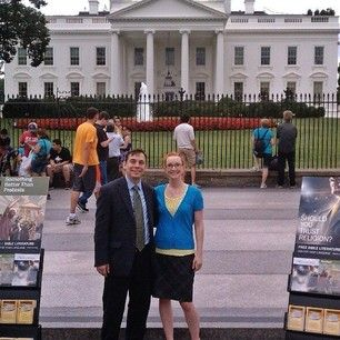 Public witnessing in front of the White House in Washington, D.C. Photo shared by @notjustboysfun73