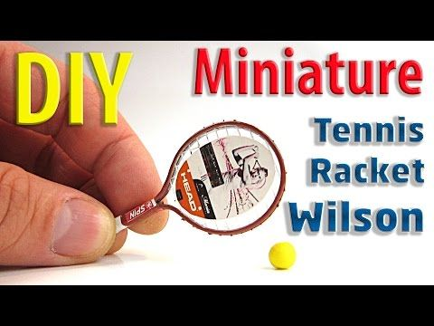 how to: miniature tennis racket                                                                                                                                                                                 Más