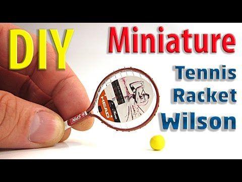 how to: miniature tennis racket