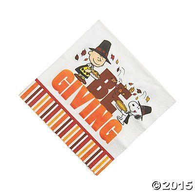 Peanuts Thanksgiving Luncheon Napkins (Pack of 2)