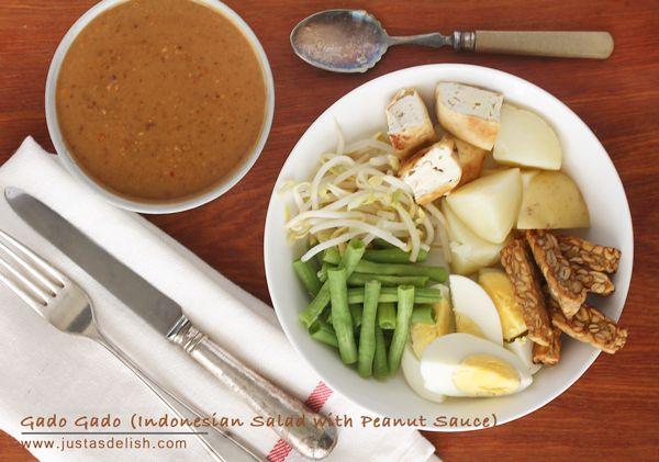 Gado Gado (Indonesian Salad with Peanut Sauce)