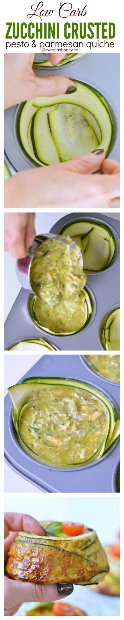 Zucchini Crustless quiche | low carb quiche recipes | clean eating quiche crustless