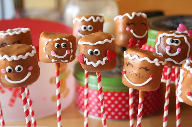 Marshmallow Gingerbread Men Pops                                                                                                                                                      More