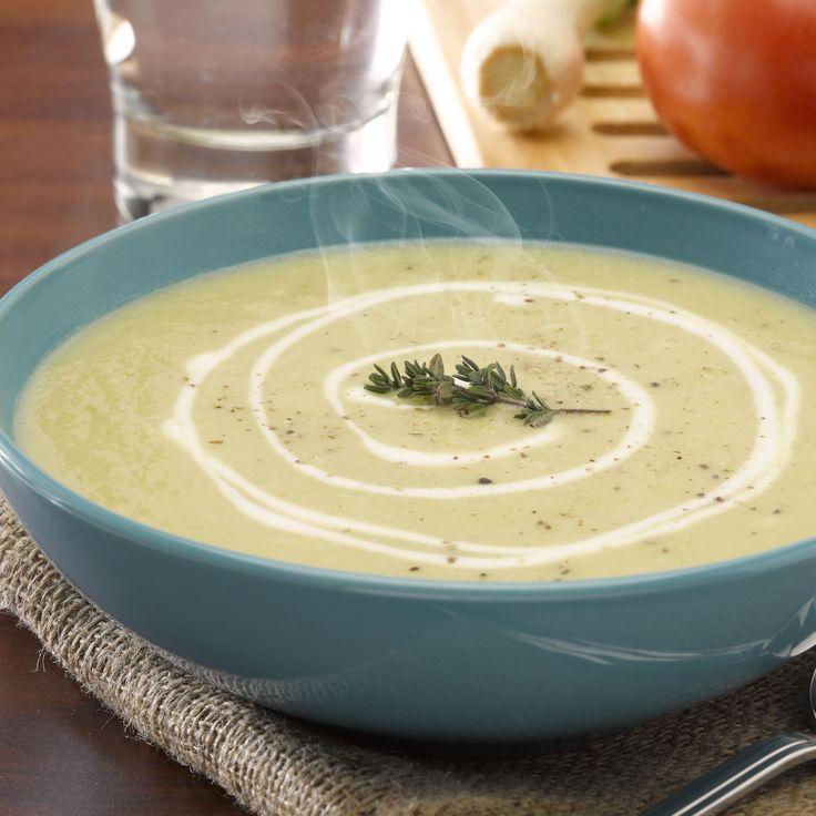 Sopa de apio con queso y yoghurt
