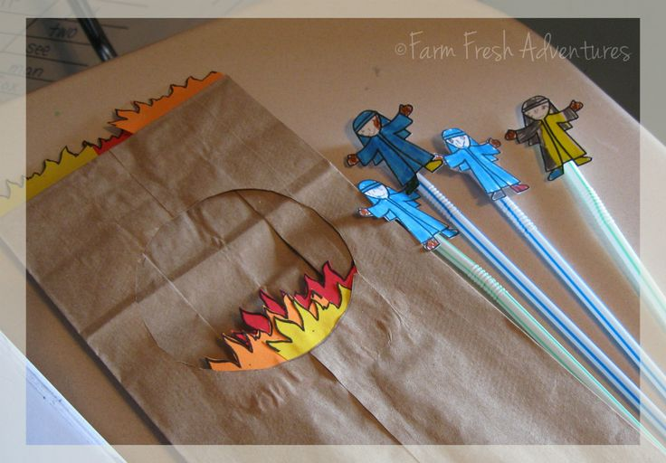 Day 3 Fiery Furnace Bible Story Craft | ... the story of the fiery furnace. It's a great craft and oh, so easy