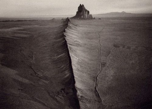 "Really cool perspective of Shiprock & ""great wall""  Ute in the background."