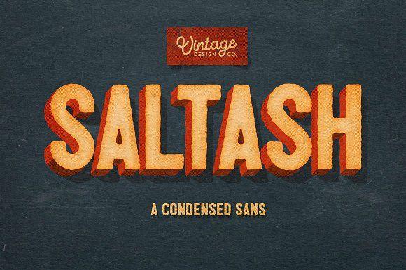 Saltash - A Condensed Sans by Ian Barnard on @creativemarket