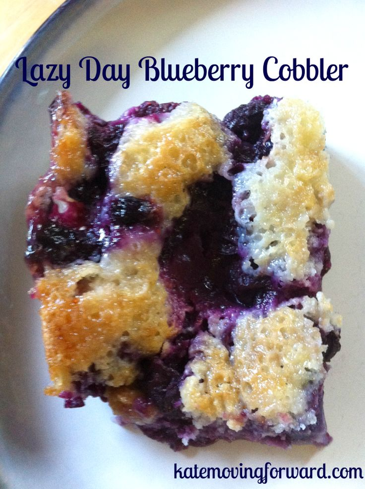 Lazy Day Blueberry Cobbler. 10/2014 used frozen blueberries, very mushy consistency.  Go with the 1/2 cup milk and fresh berries