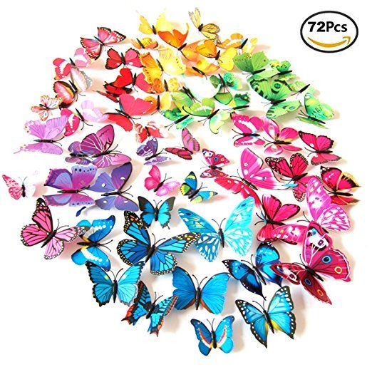 Popular Foonii PCS D Schmetterlinge Wanddeko Aufkleber Abziehbilder schlagfestem Kunststoff Schmetterling Dekorationen Wand
