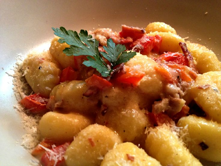 Gnocchi in a gourmet sauce ;) njami  #gnocchi #rovinj #delicious #starter
