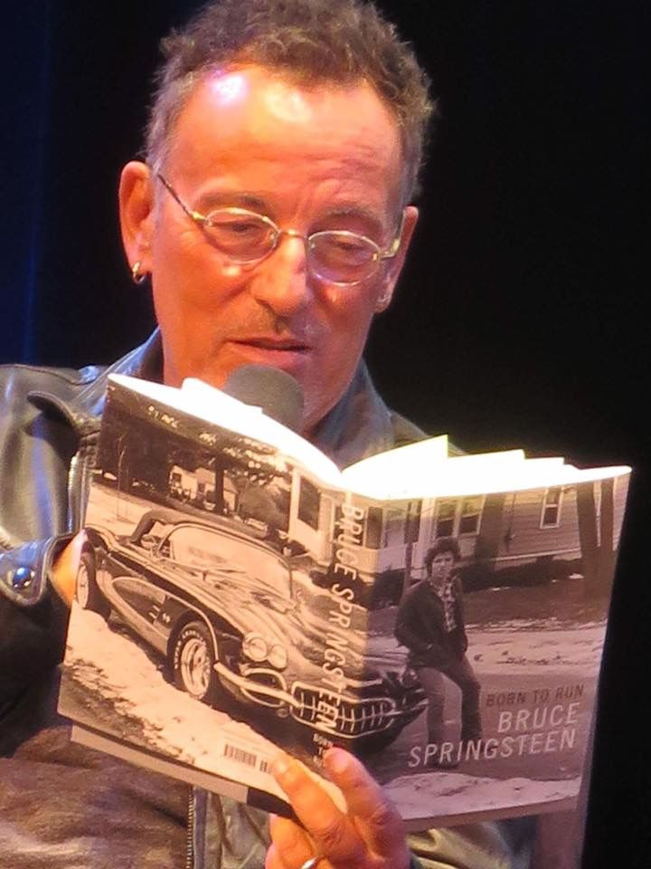 Bruce Springsteen reading an excerpt from his autobiography