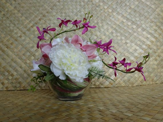 Tropical Wedding Centerpiece Orchid by AlohaSilkFlorals on Etsy