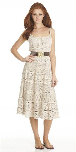 This beautiful summer dress is also made from different patterns, love it! And all diagrams are available.