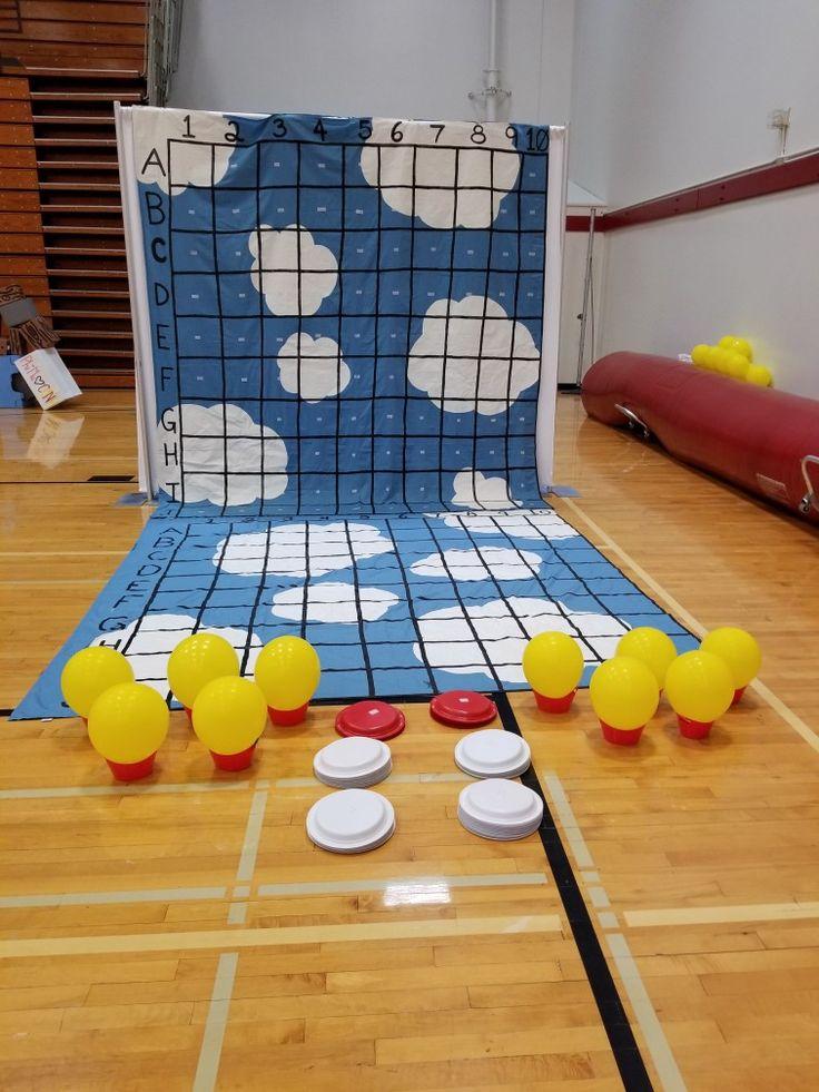 Life size Battleship game for CMNH. The sky as the grids and CMNH hot air balloons as the battleships. Phi Mu Dance Marathon Game Idea. #PhilanthropyGamePHIMU  #DMgames #PhiMu #CMNH