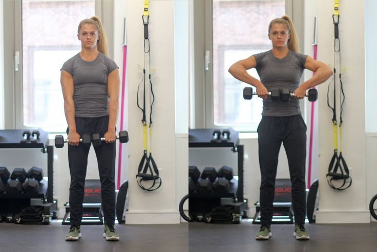 Circuit Three: Dumbbell High Pull