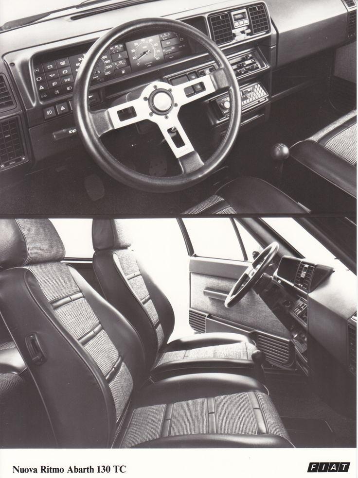 Fiat Ritmo Abarth 130 TC dashboard & interior (Salon Brussels, 1/84)