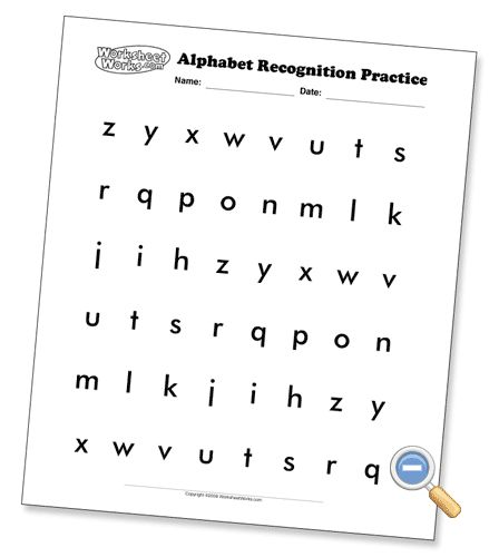 alphabet recognition pages several font options and upper lower case options preschool. Black Bedroom Furniture Sets. Home Design Ideas