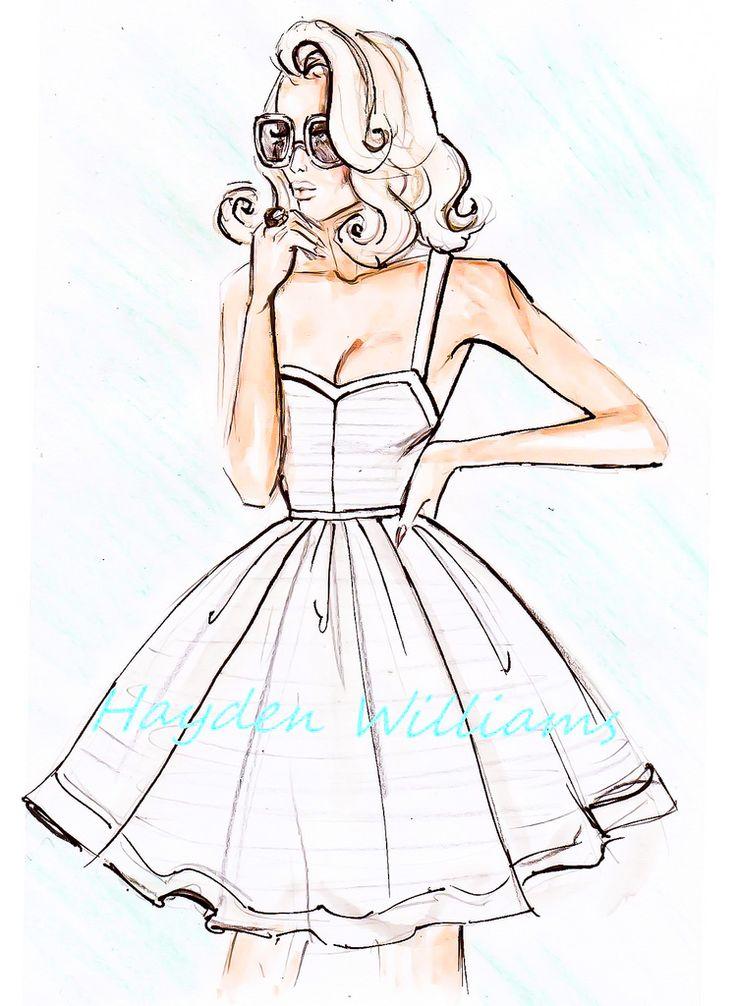 """Her Favourite Sundress""  Illustrator & Fashion Designer ~Hayden Williams~  [March 3 2012]"