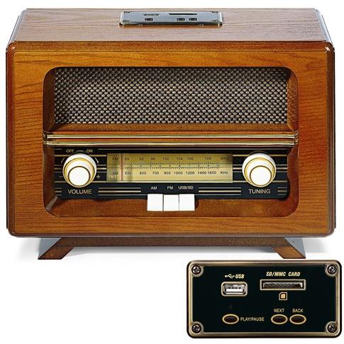 Een van de vele soorten en modellen radio's. Met lange, midden en korte golf.