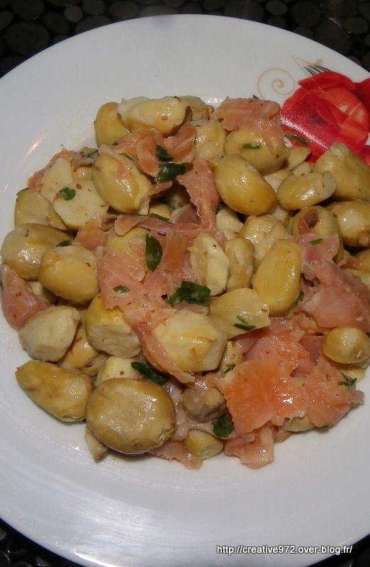 salade saumon/chataignes