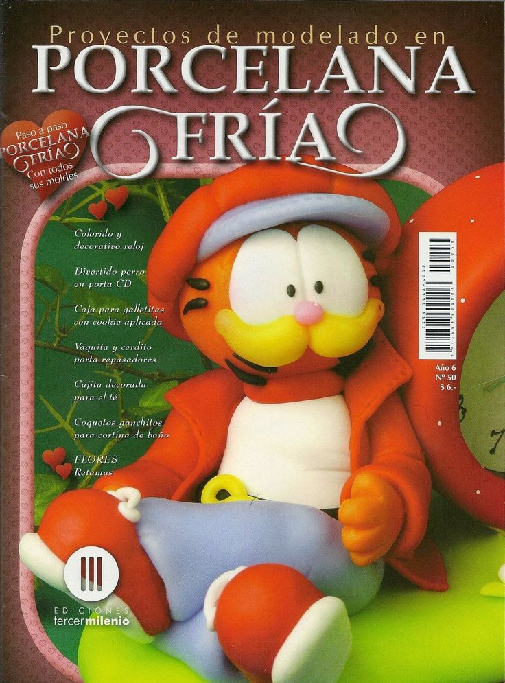 Garfield en porcelana fría