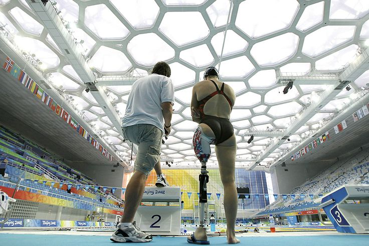 Sep 5, 2008 Pictures of the Day - Photo Journal - WSJ Melissa Stockwell, of the United States, chatted with a coach Friday during team training for the 2008 Beijing Paralympic Games. Stockwell is one of two U.S. veterans competing in Beijing who were injured in Iraq. (Greg Baker/Associated Press)