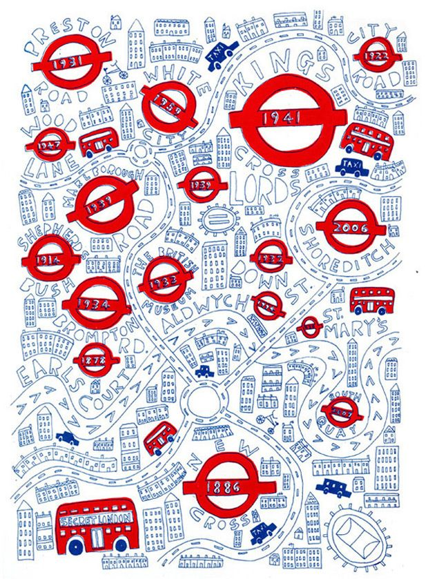 Steph Marshall - London Map