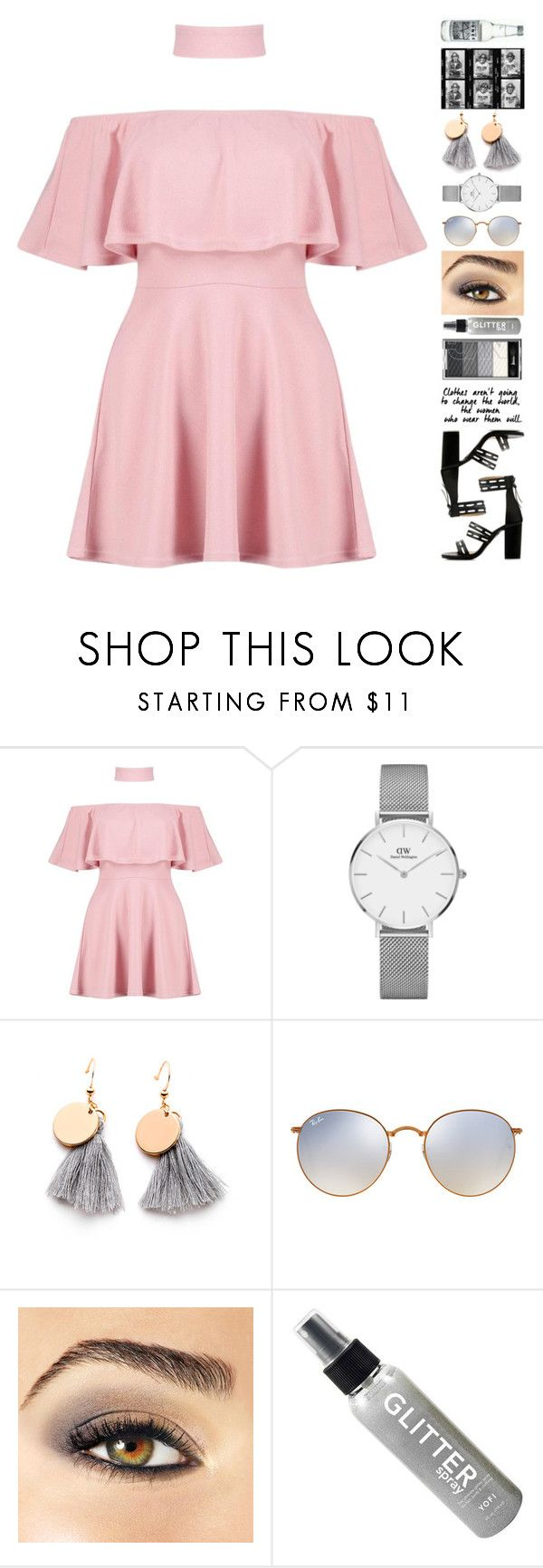 """Margarita"" by brie-the-pixie ❤ liked on Polyvore featuring Boohoo, Daniel Wellington, Ray-Ban and Avon"