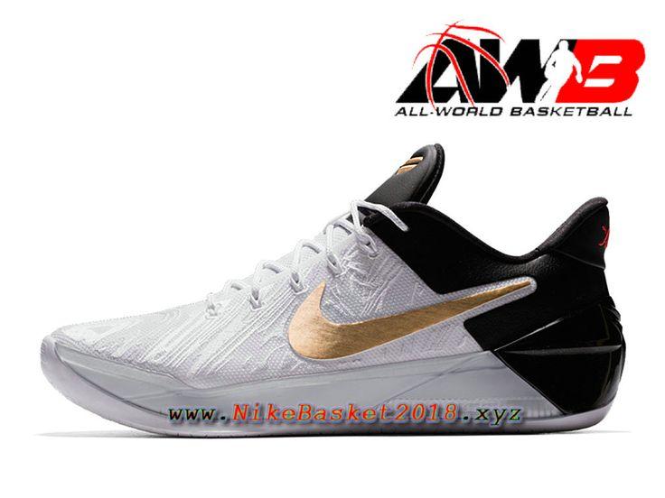 Chaussure de BasketBall Pas Cher Pour Homme Nike Kobe A.D. BHM Blanc Noir Or