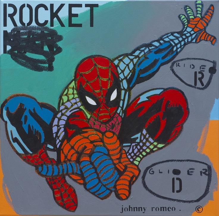 """Rider Glider"", 71 x 71cm by Johnny Romeo @ Muk Muk Fine Art"