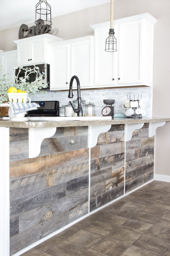 A Quick And Easy Tutorial To Get A Rustic Reclaimed Look On A Kitchen Bar Using