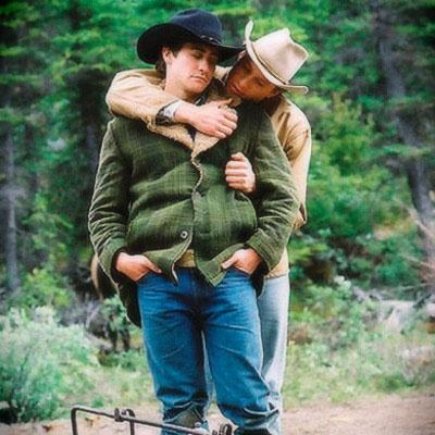 Jake Jyllenhaal and Heath Ledger  Brokeback Mountain