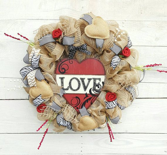 Check out this item in my Etsy shop https://www.etsy.com/listing/502205175/valentine-wreath-love-wreath-heart